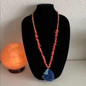 Gemstone necklace New from BARSE 32 inch long
